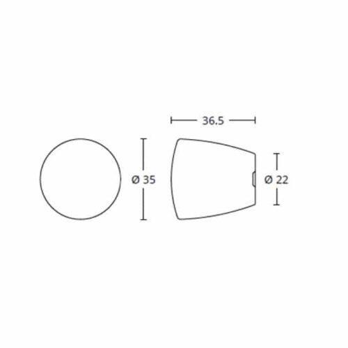 Μπουλ Εξώπορτας Convex 1013 Διαστάσεις