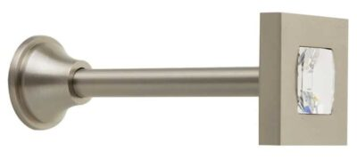 Αμπραζ Γάντζος Κουρτίνας Zogometal 4910 Ματ Νίκελ Κρύσταλλο Swarovski